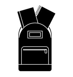 school bag book notebook pictogram vector image