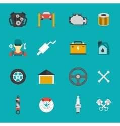 Auto Service Icons Flat set vector image vector image