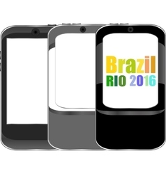 Brazil Rio 2016 Summer Games smart phone vector image
