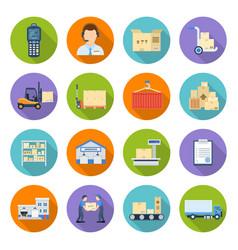 warehousing and storage vector image