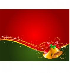 Christmas bells background vector