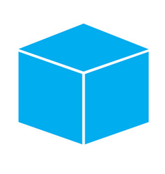 cube icon on white background cube sign vector image vector image