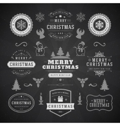 Merry Christmas And Happy New Year Wishes vector image
