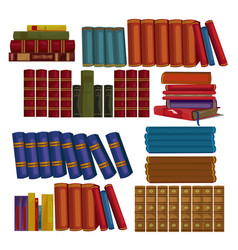 set of ancient books encyclopedias volumes vector image vector image