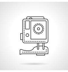 Sport camera flat line icon vector image