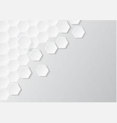 abstract paper hexagons wallpaper vector image