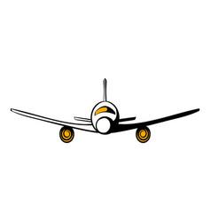 airplane icon cartoon vector image vector image