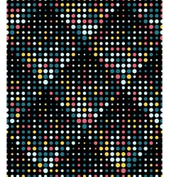 Halftone Rhombus Tiles Retro Colors Seamless vector image vector image