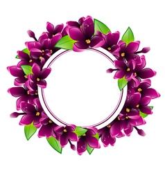 Lilac Flower Frame vector image vector image