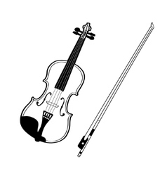 Sketch of violin isolated on white background vector image