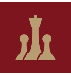 The chess icon Game symbol Flat vector image