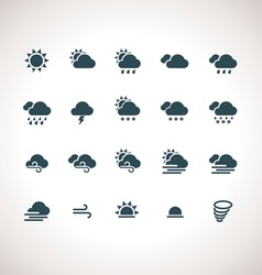 Weather Icons Set for web and mobile applications vector image vector image