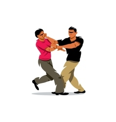 Wing Chun kung fu sparring Cartoon vector image