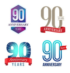 90 Years Anniversary Symbol vector