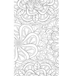 Adult coloring bookpage an abstract floral vector