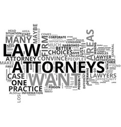 Attorneys text word cloud concept vector