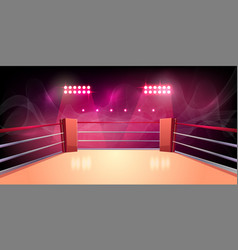 background of boxing ring illuminated vector image