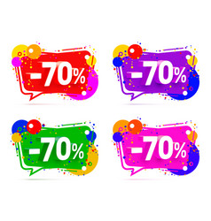 banner 70 off with share discount percentage vector image