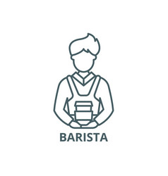 barista line icon barista outline sign vector image