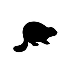 beaver silhouette vector image