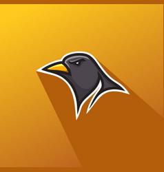 bird head for logo simple mascot logo design vector image