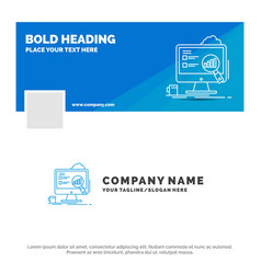Blue business logo template for analytics board vector