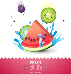 Bright fruit background vector image vector image