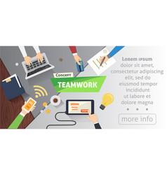 Business people team scene teamwork in modern vector