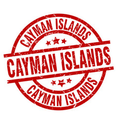 Cayman islands red round grunge stamp vector