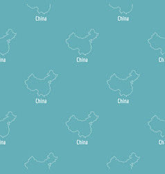 China map thin line simple vector