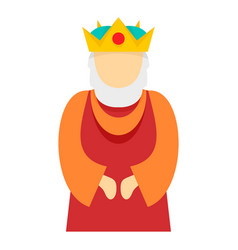 Christian king icon flat style vector