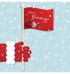 christmas flag vector image