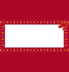 Christmas or new year rectangle border frame with vector