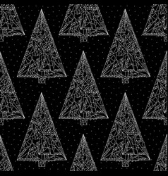 Christmas trees pattern stylish abstract xmas vector