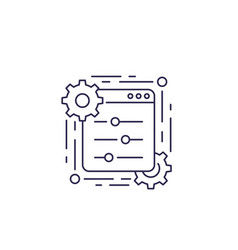 Control panel line icon vector