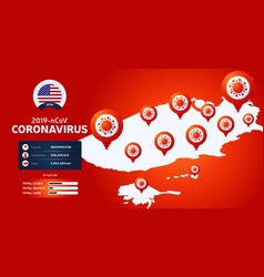 Coronavirus outbreak from wuhan china watch out vector