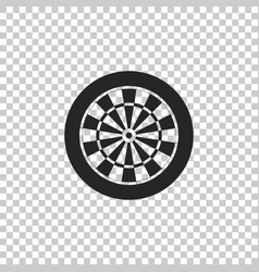 darts board with twenty black and white sectors vector image