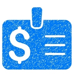 Dollar Badge Grainy Texture Icon vector