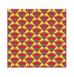 Doodle yellow bird pattern seamless vector