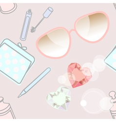 Fashion accessories and cosmetics vector image