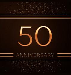Fifty years anniversary celebration logotype vector