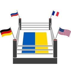 Fight ring of ukraine vector