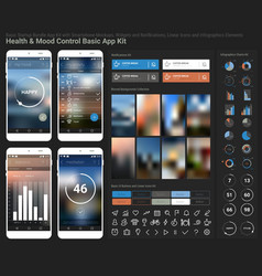 Flat design responsive UI mobile app and website vector