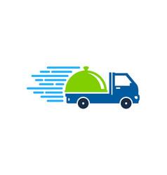 Food delivery logo icon design vector