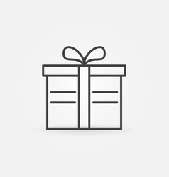 Gift box icon in thin line style vector