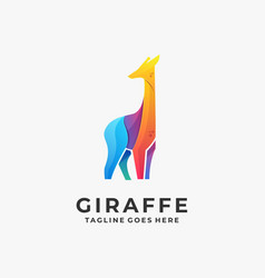 giraffe template vector image