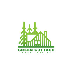 green cottage logo vector image