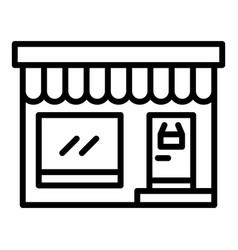 Grocery street shop icon outline style vector