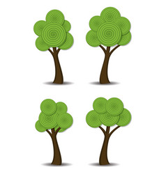 group of stylized abstract trees vector image
