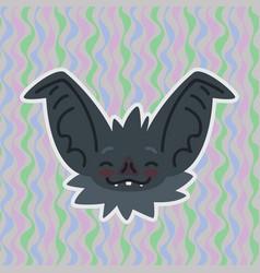 Halloween bat smiley head got blushed vector